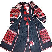 Вышитое длинное платье. Бохо платье. Хиджаб. Абая