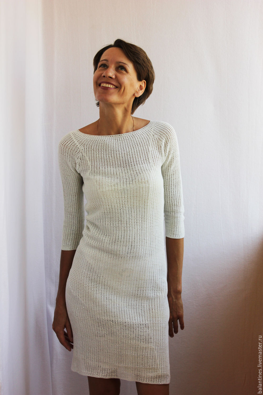 Вязание крючком платья из хлопка 3