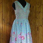 Одежда ручной работы. Ярмарка Мастеров - ручная работа Платье- сарафан из хлопка Цветочное. Handmade.
