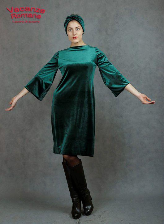 Платья ручной работы. Ярмарка Мастеров - ручная работа. Купить Vacanze Romane-1227. Handmade. Тёмно-зелёный, изумрудный цвет