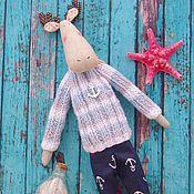 Куклы и игрушки ручной работы. Ярмарка Мастеров - ручная работа Тильда Лось Моряк. Handmade.