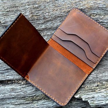 Bags and accessories handmade. Livemaster - original item Leather mini wallet