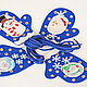 Toys-lacing: Christmas mittens, Lacing cards, Moscow,  Фото №1