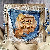 Подарки к праздникам handmade. Livemaster - original item album for photos. Men`s. Wild West/Cowboy. Handmade.