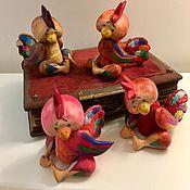 Куклы и игрушки ручной работы. Ярмарка Мастеров - ручная работа Деревянные Петушки. Handmade.