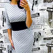 Одежда ручной работы. Ярмарка Мастеров - ручная работа Платье с широкой вставкой на поясе 7. Handmade.