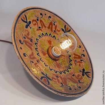 Для дома и интерьера ручной работы. Ярмарка Мастеров - ручная работа Керамическая люстра в комплект к плитке. Handmade.