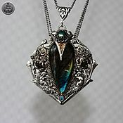 handmade. Livemaster - original item Ocean heart Labrador black pearl handmade pendant. Handmade.
