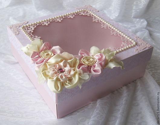 Подарки для новорожденных, ручной работы. Ярмарка Мастеров - ручная работа. Купить Коробочка подарочная/для хранения альбома/коробка памяти (memory box). Handmade.