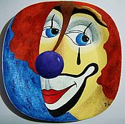 """Посуда ручной работы. Ярмарка Мастеров - ручная работа Декоративная тарелка из серии """"Клоуны"""". Handmade."""