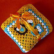 """Для дома и интерьера ручной работы. Ярмарка Мастеров - ручная работа Плед """"Три совы"""" (детский) ручная вязка. Handmade."""