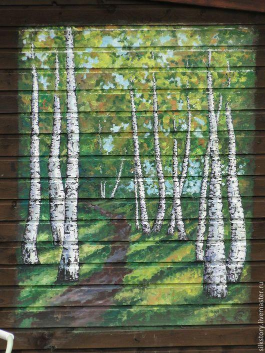 Пейзаж ручной работы. Ярмарка Мастеров - ручная работа. Купить Роспись на стене. Handmade. Роспись акрилом, заказать картину, пейзаж