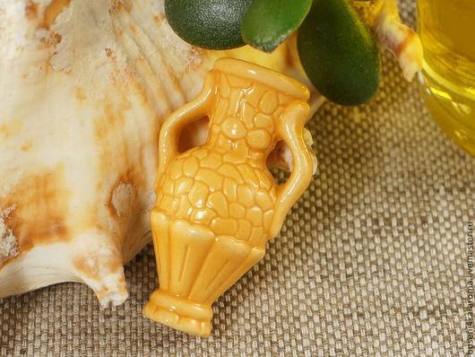 Для украшений ручной работы. Ярмарка Мастеров - ручная работа. Купить Аромакулон керамический №5 (желтый). Handmade. Аромакулон, ароматерапия