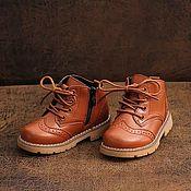 Ботинки ручной работы. Ярмарка Мастеров - ручная работа Ботинки детские. Handmade.