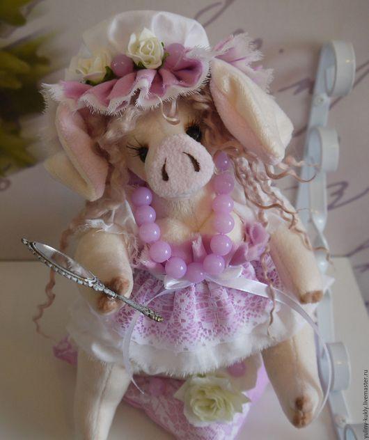 Игрушки животные, ручной работы. Ярмарка Мастеров - ручная работа. Купить Авторская текстильная свинка ручной работы Брошечка. Handmade.
