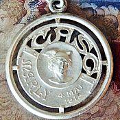 Винтаж ручной работы. Ярмарка Мастеров - ручная работа Антикварная медаль подвеска 1913 год Шарля Бренюса металл Франция. Handmade.