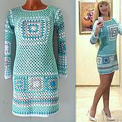 Одежда handmade. Livemaster - original item Tunic harlequin (Granny`s square). Handmade.