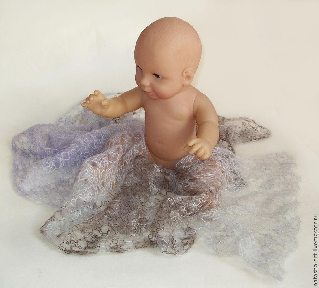 Ажурные пледы для фотосессии новорожденных, Шапки, Одинцово, Фото №1