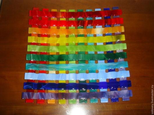 """Тарелки ручной работы. Ярмарка Мастеров - ручная работа. Купить Тарелка """" Радуга в решете"""". Handmade. Разноцветный, тарелка"""