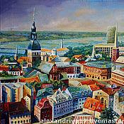 Картины и панно ручной работы. Ярмарка Мастеров - ручная работа Картина «Пряничный город». Handmade.