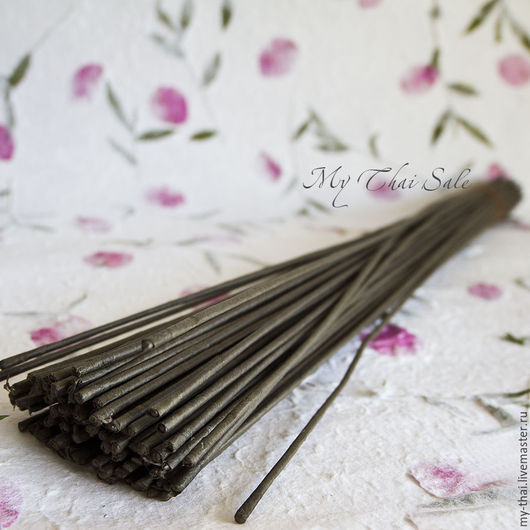Провололка №16 белая, коричневая 75 см My  Thai Материалы для флористики из Таиланда