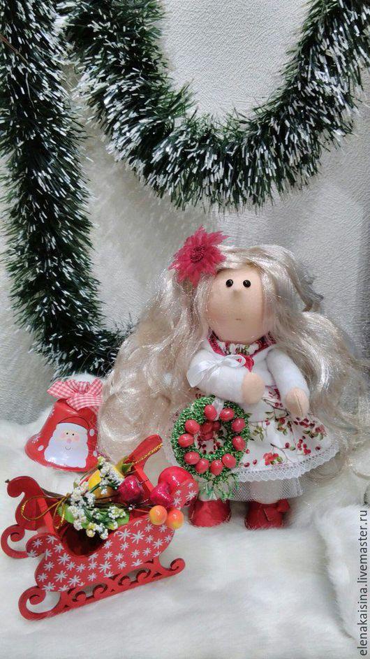 Коллекционные куклы ручной работы. Ярмарка Мастеров - ручная работа. Купить кукла Рябинка. Handmade. Комбинированный, текстильная кукла