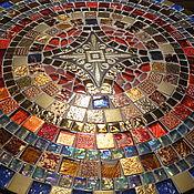 Для дома и интерьера handmade. Livemaster - original item Wrought iron table with a mosaic of