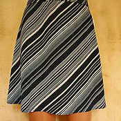 Одежда handmade. Livemaster - original item Skirt with lurex knitted Diagonal. Handmade.