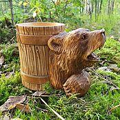Посуда handmade. Livemaster - original item Beer mug made of wood