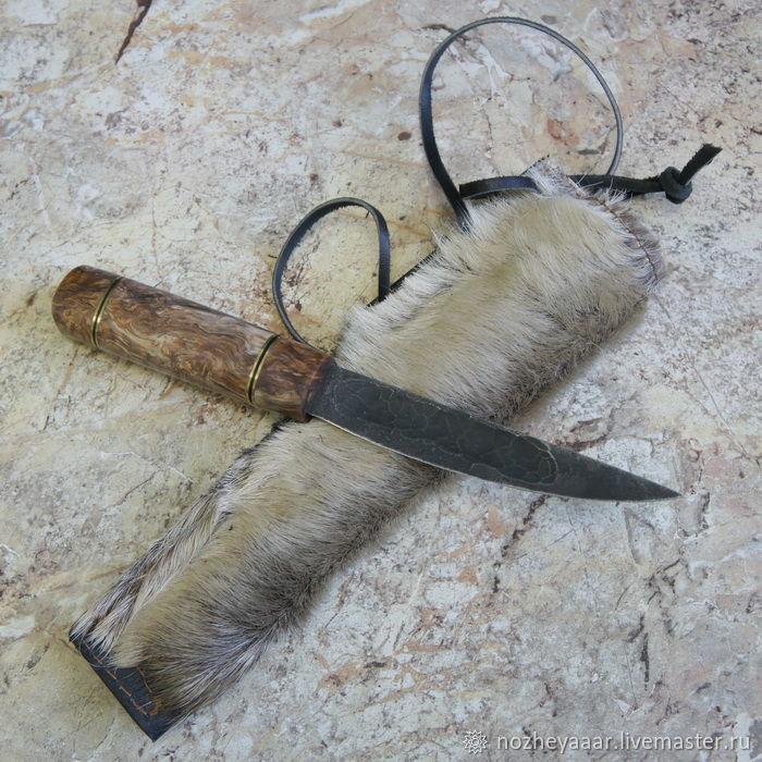 """Нож """"Тундра-2"""" якут х12мф стаб.карелка ножны, Knives, Vorsma,  Фото №1"""