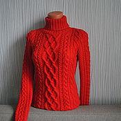 """Одежда ручной работы. Ярмарка Мастеров - ручная работа Свитер""""Красный"""". Handmade."""