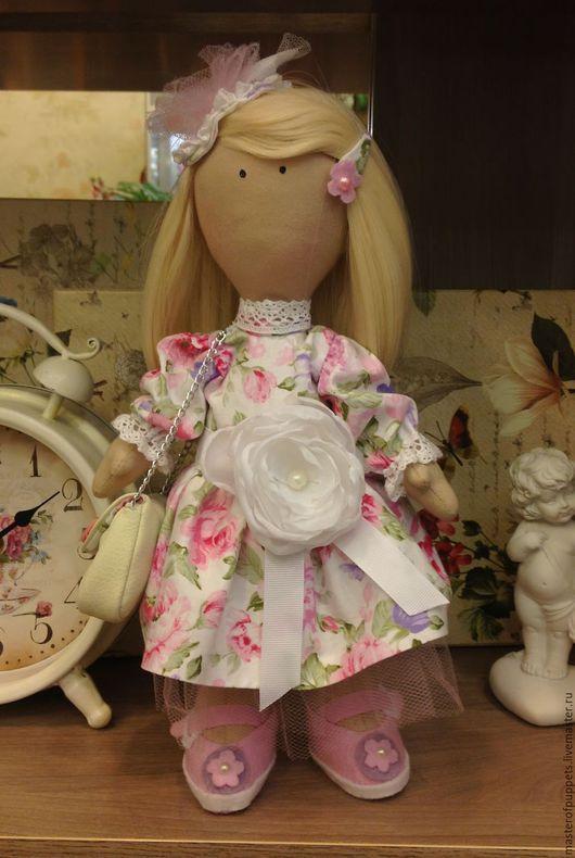 Куклы тыквоголовки ручной работы. Ярмарка Мастеров - ручная работа. Купить Кукла Светлана. Handmade. Розовый, кукла текстильная