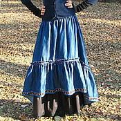 Одежда handmade. Livemaster - original item The floor-length skirt denim. Handmade.