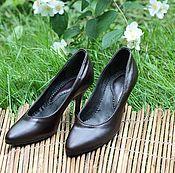 Обувь ручной работы handmade. Livemaster - original item Sexy women`s pumps genuine leather heels dark chocolate. Handmade.