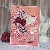Открытки handmade. Livemaster - original item Postcard for beloved. Handmade.