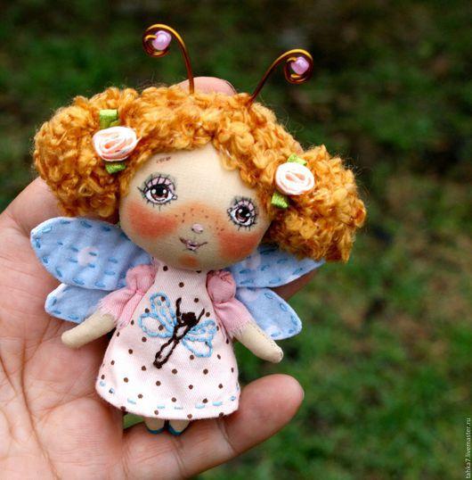 Броши ручной работы. Ярмарка Мастеров - ручная работа. Купить Брошь девочка стрекоза . Брошь куколка.1000 р. Handmade.