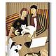 Сумки и аксессуары ручной работы. Ярмарка Мастеров - ручная работа. Купить Визитница «Кошка с собакой».. Handmade. Кошка, животные, визитница