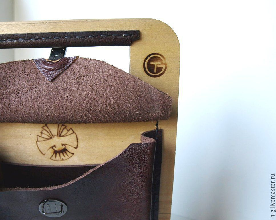 кожаная деревянная сумка (2)