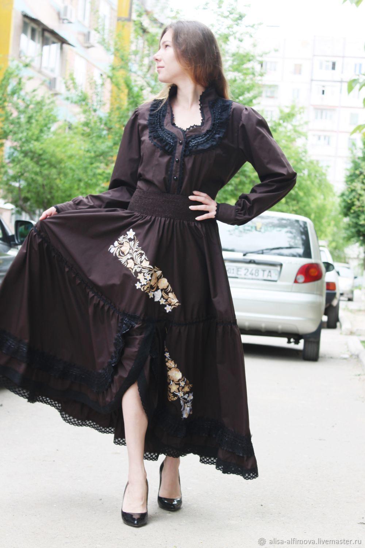 "Dresses handmade. Livemaster - handmade. Buy Бохо костюм ""Шоколад"".Boho style, boho dress, fancy dress, dress boho"