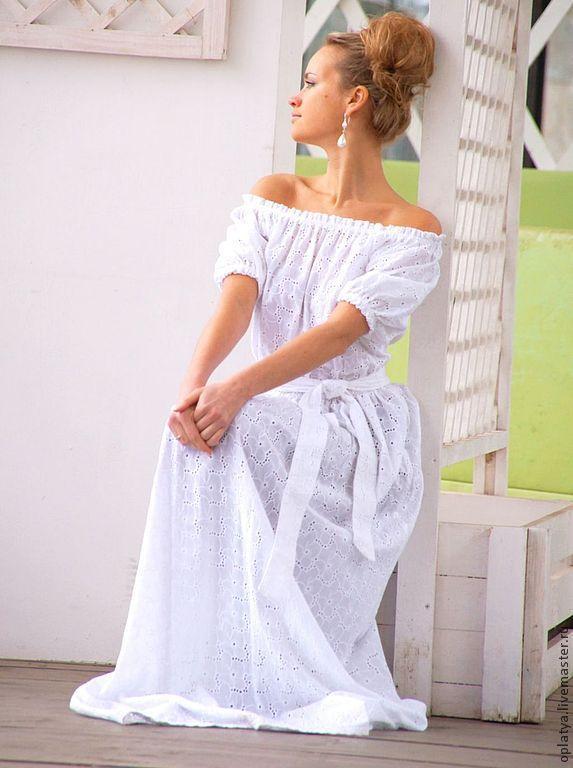 Платье с рукавами на жару