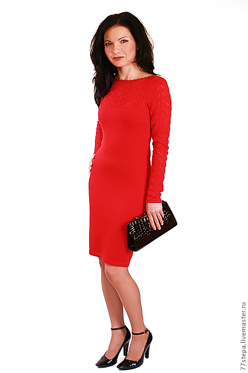 Платья ручной работы. Ярмарка Мастеров - ручная работа. Купить Платье вязаное 4463. Handmade. Платье, платье вязаное