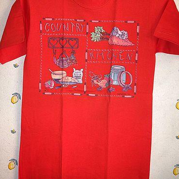 Одежда ручной работы. Ярмарка Мастеров - ручная работа 25 % на Футболки: Дачная кухня. Handmade.