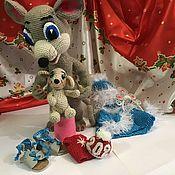 Мягкие игрушки ручной работы. Ярмарка Мастеров - ручная работа Мышка Снегурочка с мышонком Новый год. Handmade.