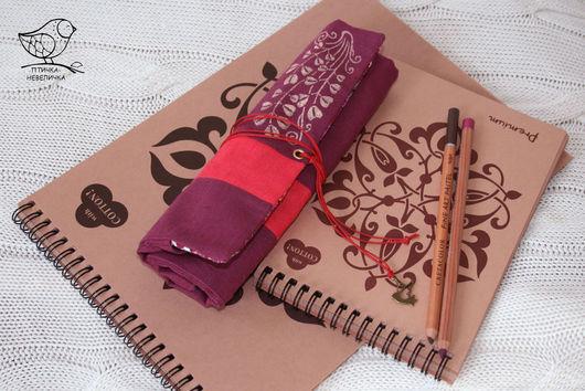 Пеналы ручной работы. Ярмарка Мастеров - ручная работа. Купить пенал для девочки из льняной ткани. Handmade. Пенал для карандашей