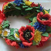 Украшения handmade. Livemaster - original item A wreath of poppies, daisies, cornflowers and dandelions in the Slavic Steele. Handmade.