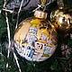 Новый год 2017 ручной работы. Ярмарка Мастеров - ручная работа. Купить Соборная площадь Кремля. Handmade. Золотой, москва, зима