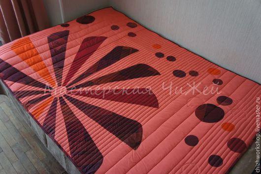 Текстиль, ковры ручной работы. Ярмарка Мастеров - ручная работа. Купить Одеяло пэчворк Ромашка и Пузыри. Handmade. Одеяло пэчворк