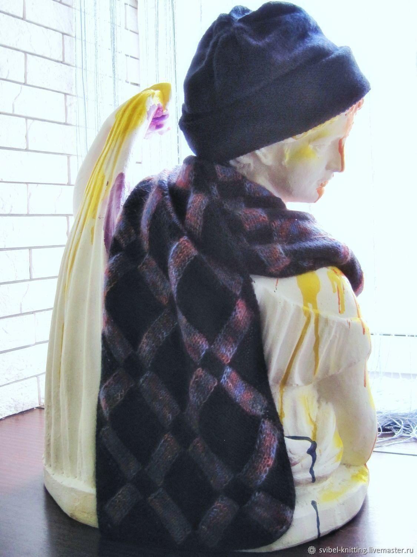 Шарф энтрелак на заказ в любой цветовой гамме из любой пряжи, Шарфы, Оренбург,  Фото №1