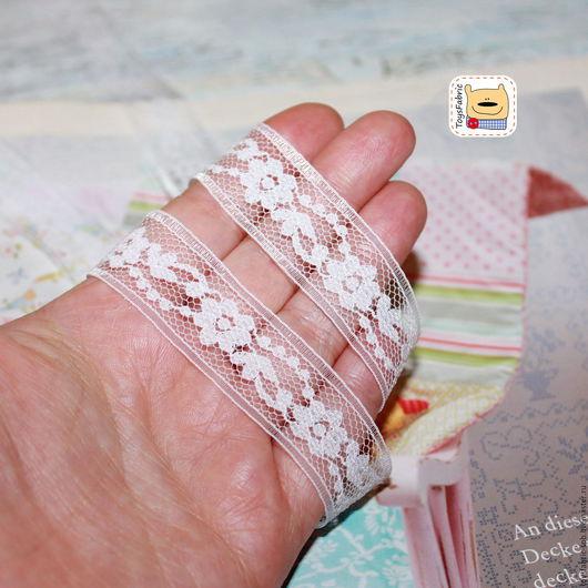 Шитье ручной работы. Ярмарка Мастеров - ручная работа. Купить Кружево капрон белое 20мм (КК18) капроновое для отделки. Handmade.