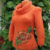 Одежда ручной работы. Ярмарка Мастеров - ручная работа Пуловер из кид-мохера с вышивкой. Handmade.